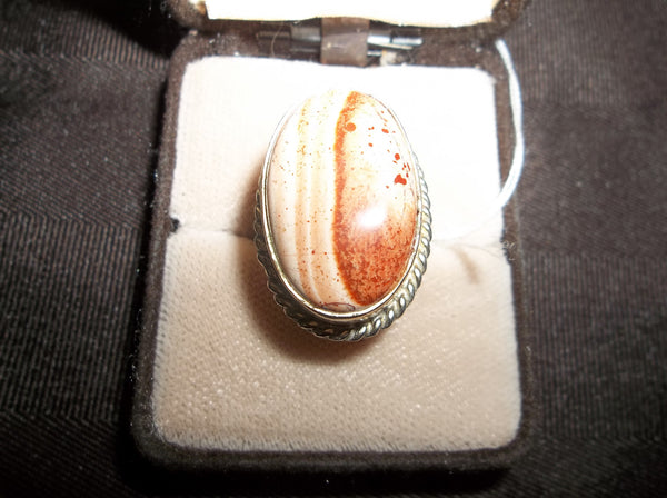 925 Sterling Silver Jasper Ring     R-016 - Birthstones and More