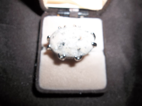 925 Sterling Silver Dalmation Jasper Ring     R-035 - Birthstones and More