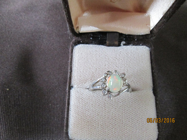 Alluring 925 Sterling Silver Natural Gemstone Ethiopian Opal Ring       EO-03 - Birthstones and More