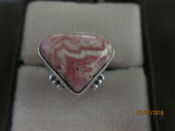 Refreshing Rhodochrosite Ring        R-03 - Birthstones and More