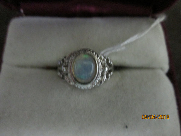 Antique 925 Sterling Silver  Ethiopian Opal Ring       EO-31 - Birthstones and More