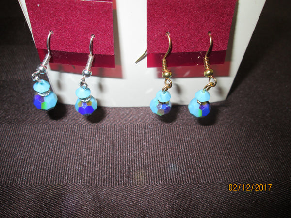 Swarovski Crystal Birthstone Earrings (December-Turquoise)    SW-BE-12