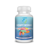 Hempy Worms Gummy Full Spectrum Hemp CBD Oil Edibles - 100mg/200mg/600mg/1200mg CBD - Choose PM or Regular CBD