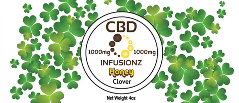 CBD Honey - Clover Honey in Full Spectrum Hemp CBD - 1000mg