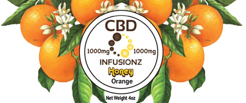 CBD Honey - Orange Blossom Honey in Full Spectrum Hemp CBD - 1000mg