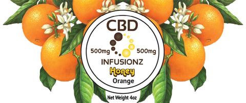 CBD Honey - Orange Blossom Honey in Full Spectrum Hemp CBD - 500mg