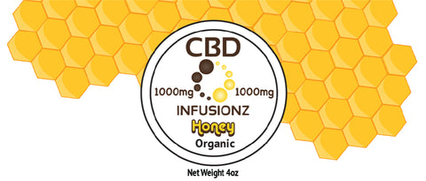 CBD Honey - Organic Honey in Full Spectrum Hemp CBD - 1000mg