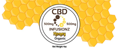 CBD Honey - Organic Honey in Full Spectrum Hemp CBD - 500mg