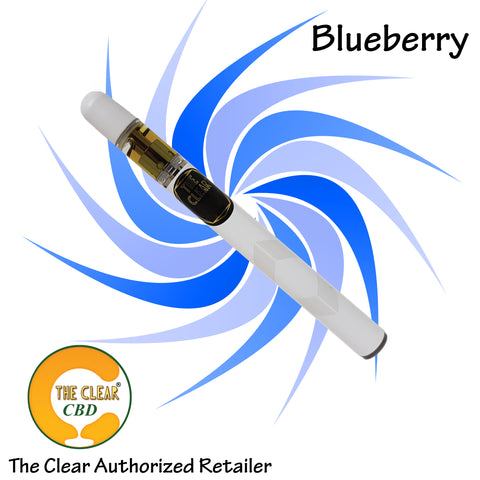 The Clear Blueberry Disposable 220mg CBD Vape Pen