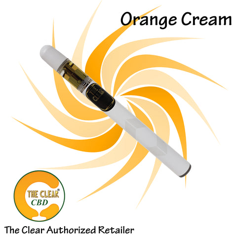 The Clear Orange Cream Disposable 220mg CBD Vape Pen