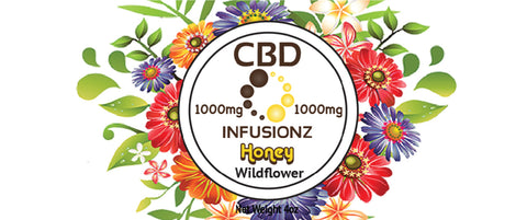 CBD Honey - Wildflower Honey in Full Spectrum Hemp CBD - 1000mg
