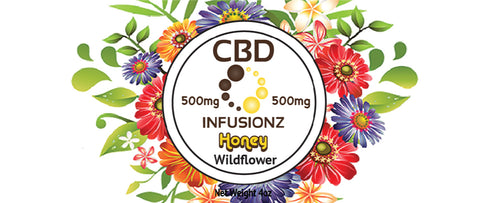 CBD Honey - Wildflower Honey in Full Spectrum Hemp CBD - 500mg