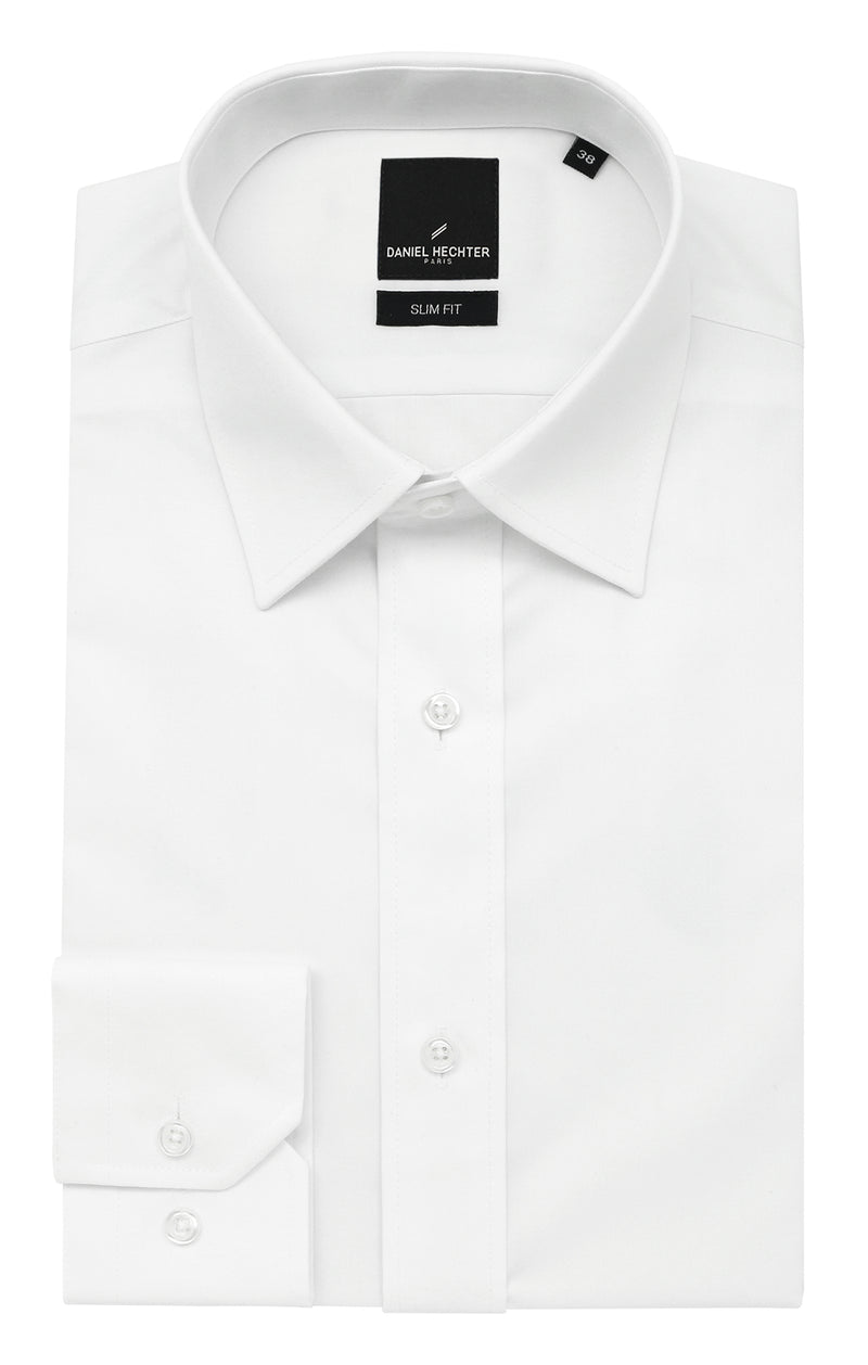 Liberty Business White Cotton Blend Shirt