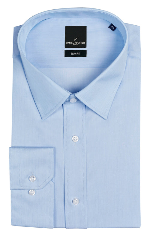 Daniel Hechter Liberty Business Light Blue Cotton Blend Shirt