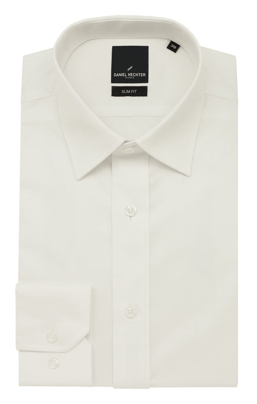 Liberty Business Cream Cotton Blend Shirt