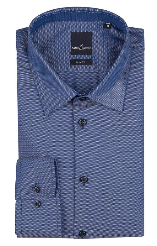 Daniel Hechter Shape Business Dark Blue Textured Shirt - LIMITED STOCK