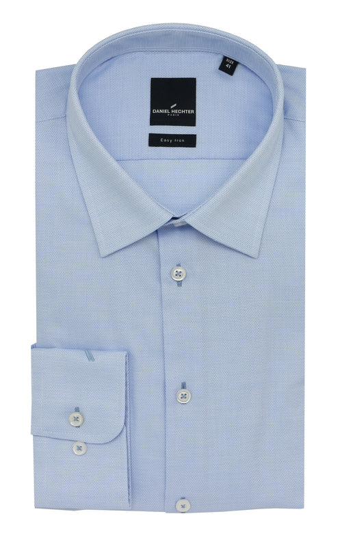 Daniel Hechter Shape Business Light Blue Textured Shirt - LIMITED STOCK