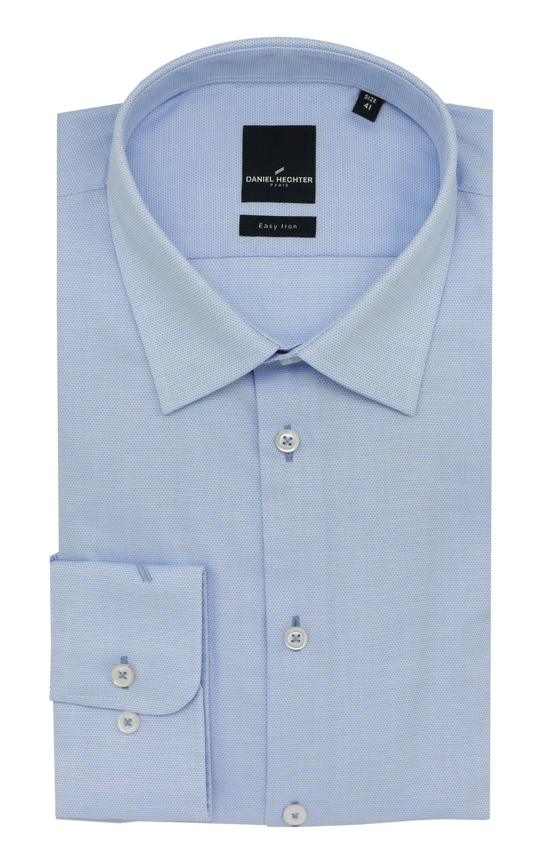 Shape Business Light Blue Birdseye Shirt