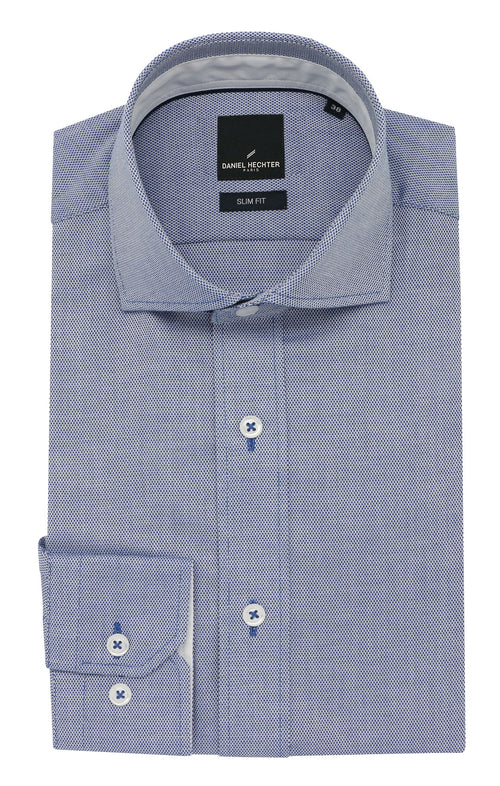 Daniel Hechter Jacque Business Blue Textured Shirt