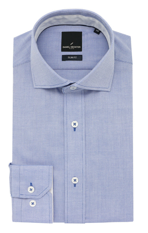 Daniel Hechter Jacque Business Light Blue Textured Shirt