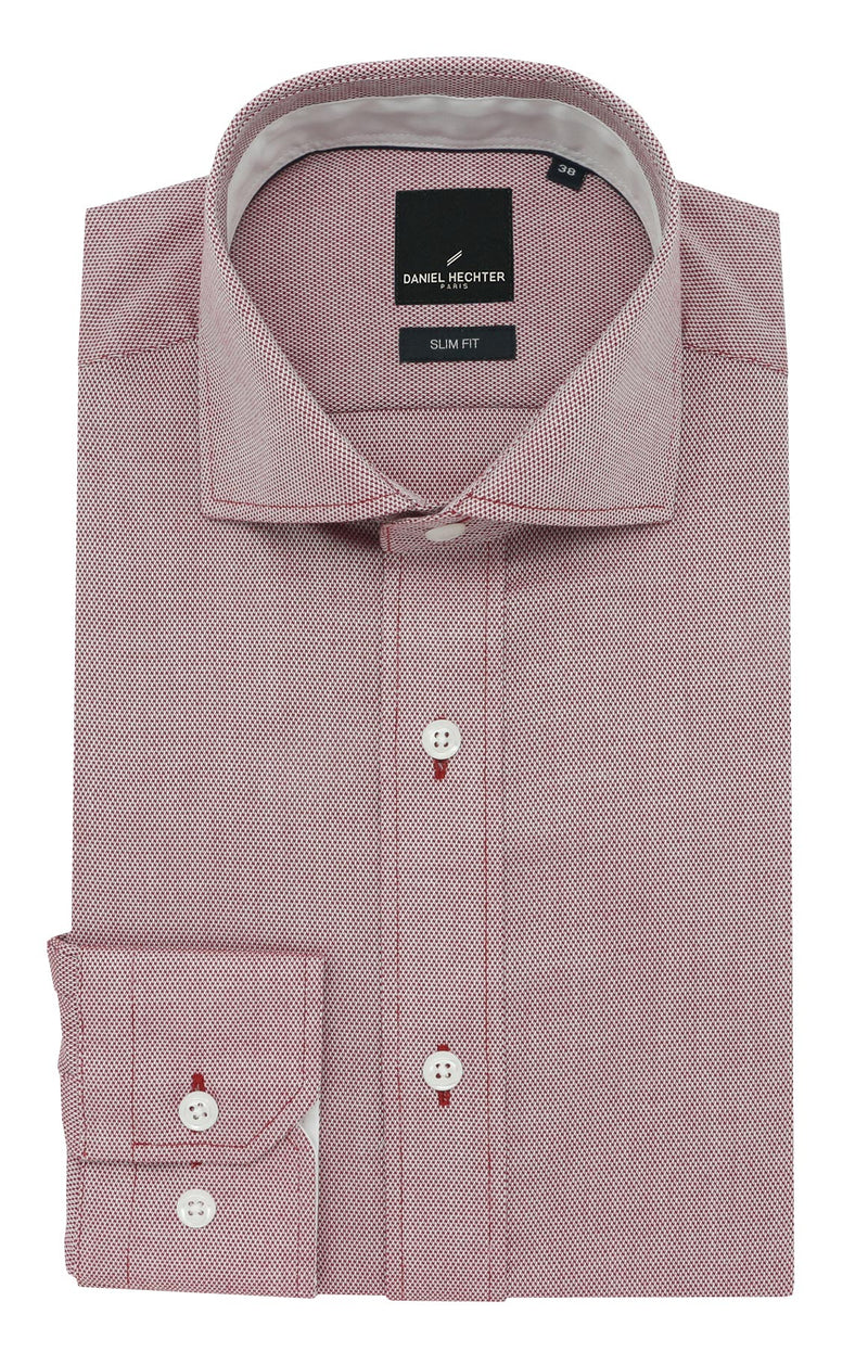 Daniel Hechter Jacque Business Red Textured Shirt