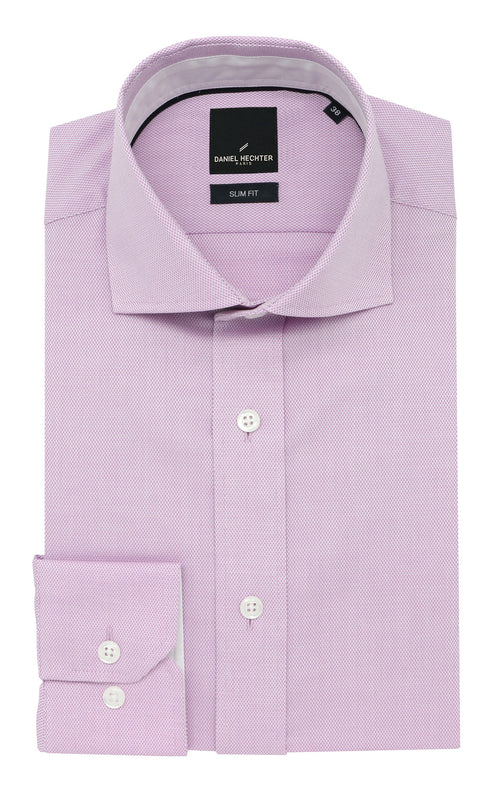 Daniel Hechter Jacque Business Pink Textured Shirt - LIMITED STOCK