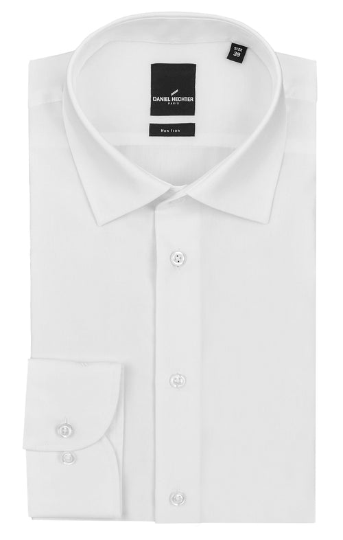 Shape Business White Cotton Poplin Shirt
