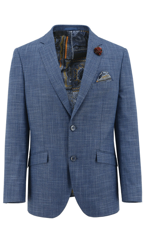 Royale Blue Textured Sports Jacket