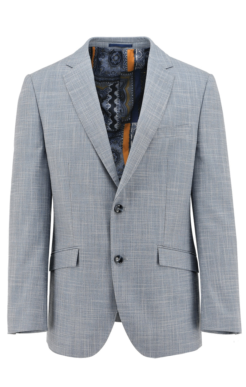 Christian Brookes Royale Light Blue Textured Sports Jacket - LIMITED STOCK