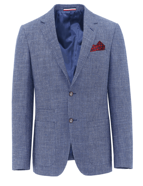 Prague Blue Birdseye Sports Jacket