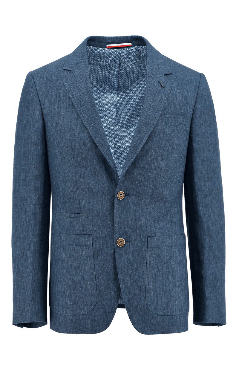 Prague Blue Linen Sports Jacket