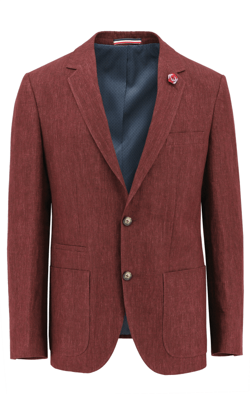 Prague Red Linen Sports Jacket
