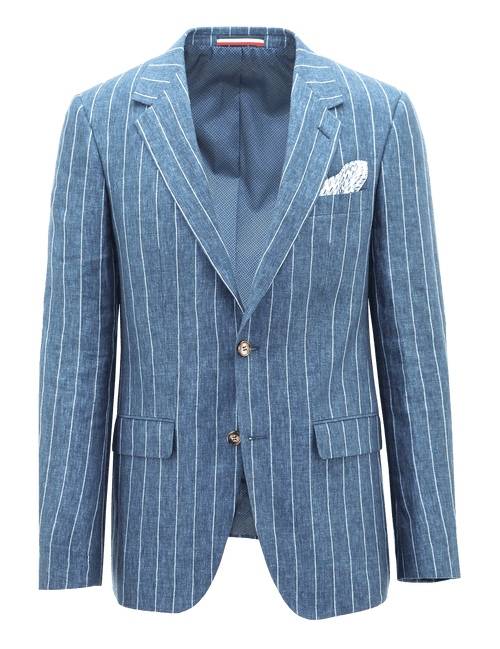 Ritchie Pinstripe Linen Sports Jacket