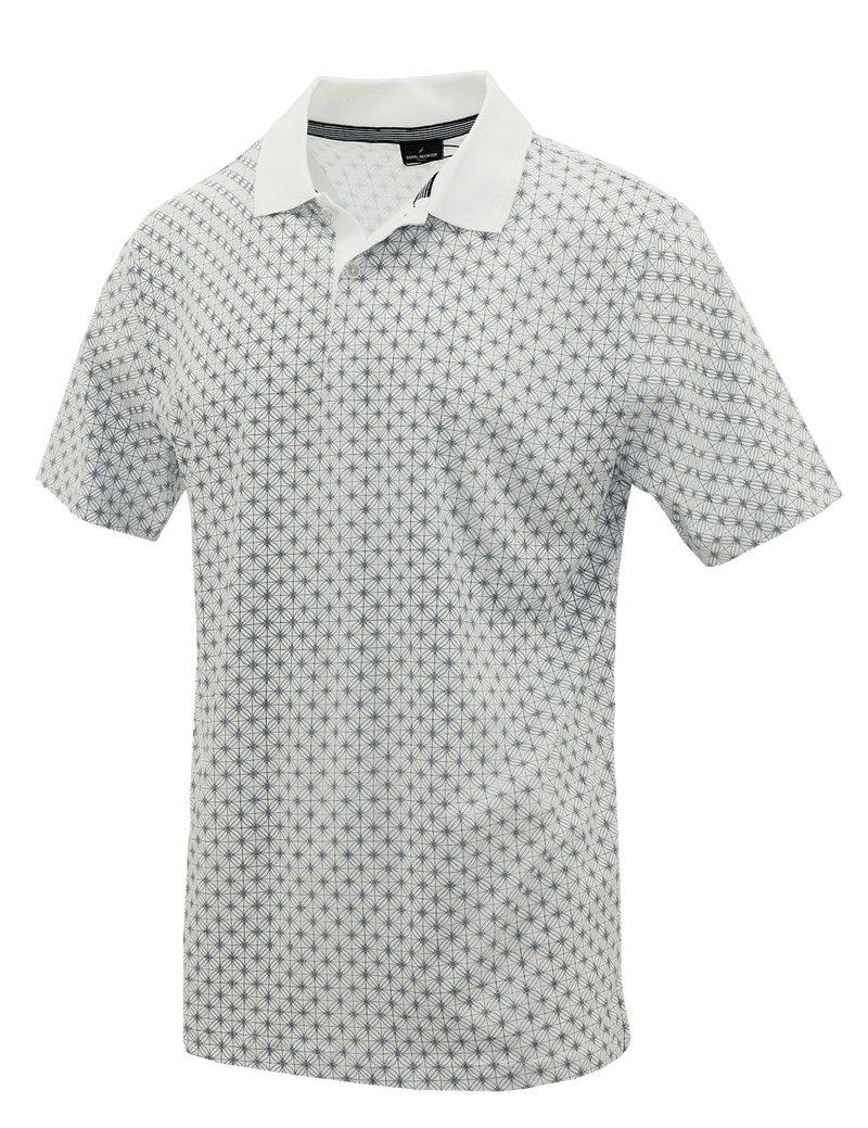 White Web Cotton Polo