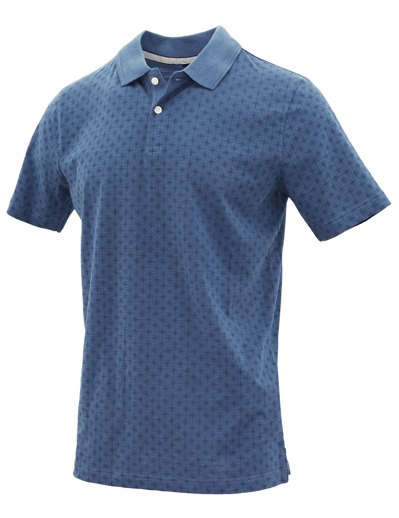 Blue Web Cotton Polo