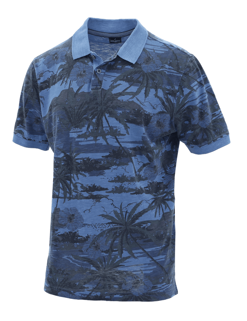 Blue Desert Cotton Polo