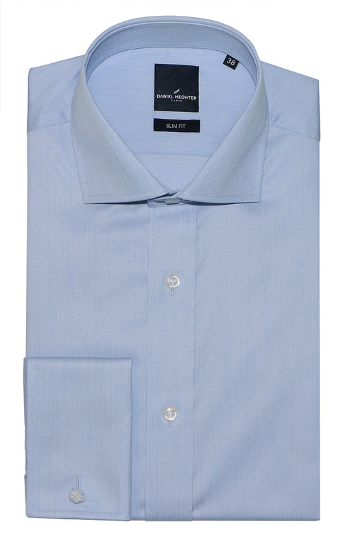Daniel Hechter Jacque French Blue Cotton Shirt