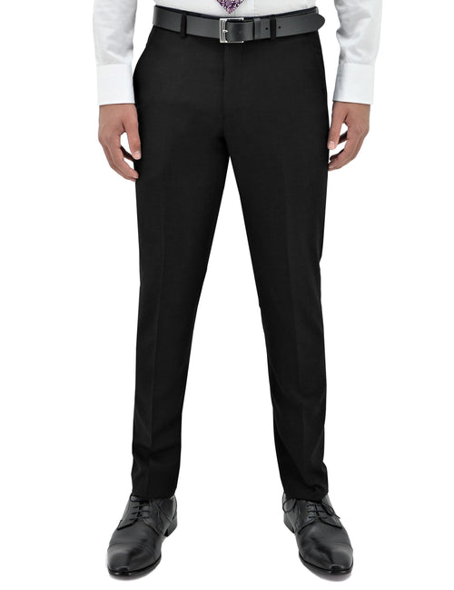 Lyon Black 106 Wool Trouser