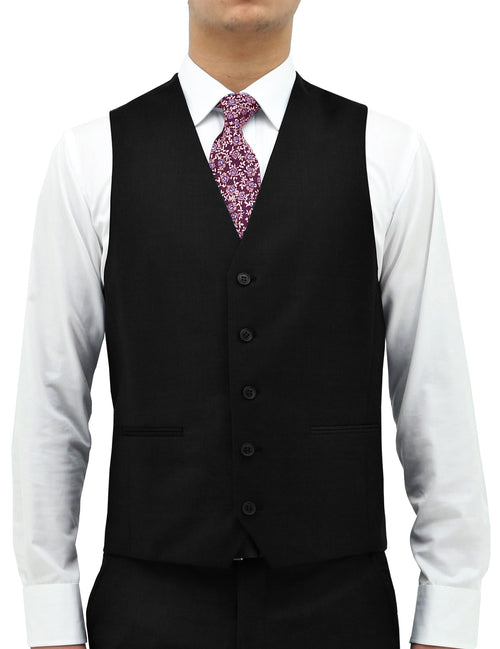Boston Ryan Black Wool Vest