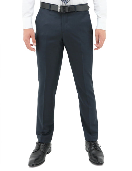 Lyon Blue 106 Wool Trouser