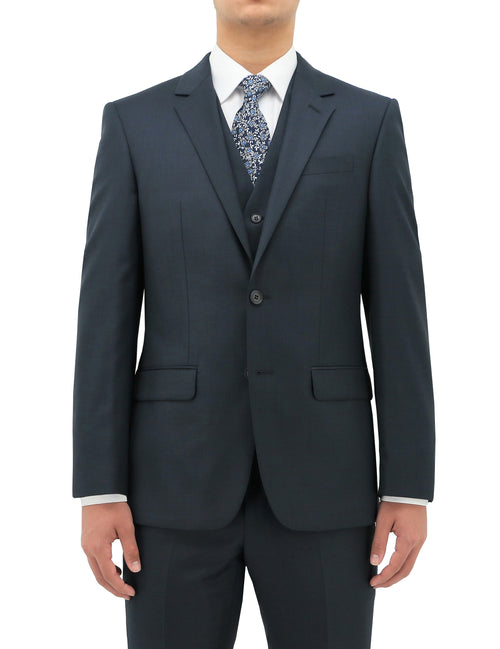 Michel Blue 106 Wool Suit Jacket