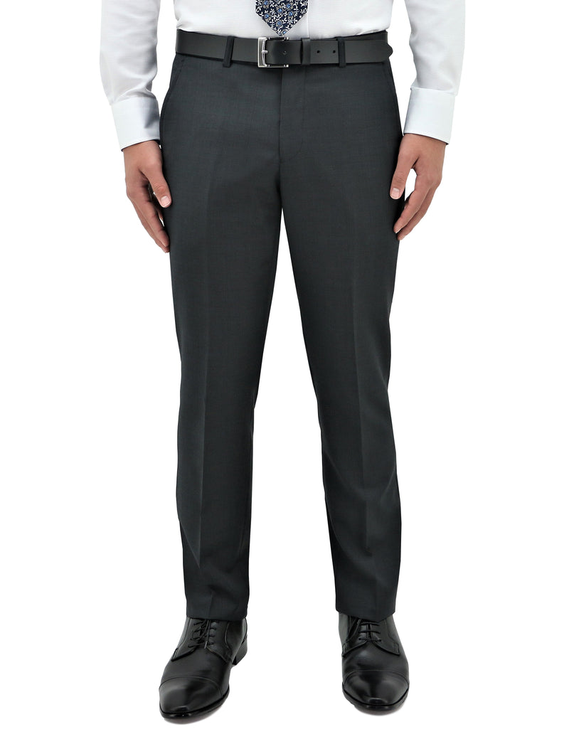 Lyon 704 Charcoal Wool Trouser