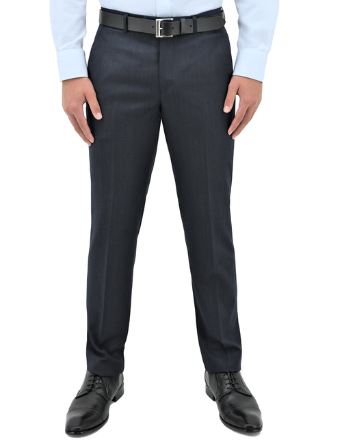 Lyon 101 Navy Wool Trouser