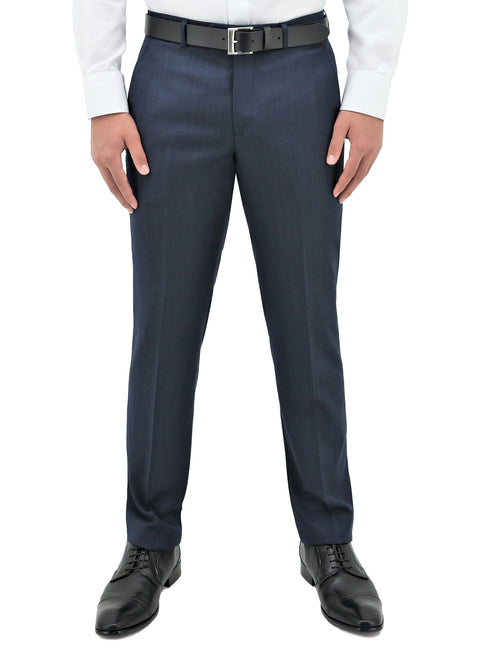 Lyon 101 Blue Wool Trouser
