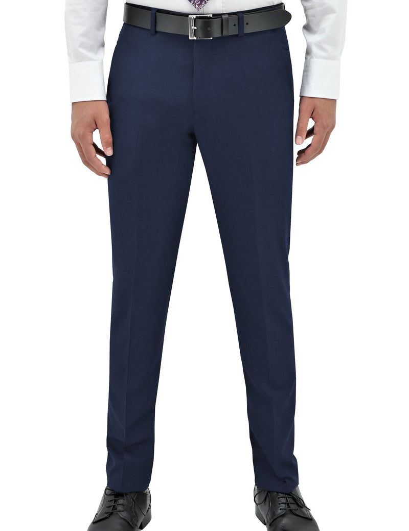 Edward 106 Blue Wool Trouser