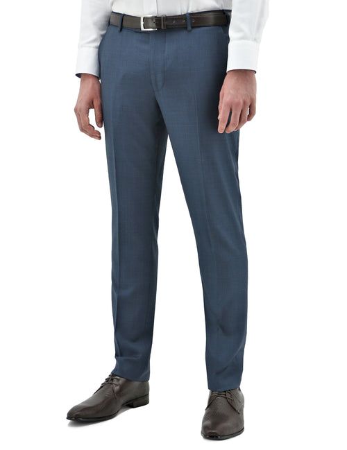 Edward 210 Blue Check Wool Trouser