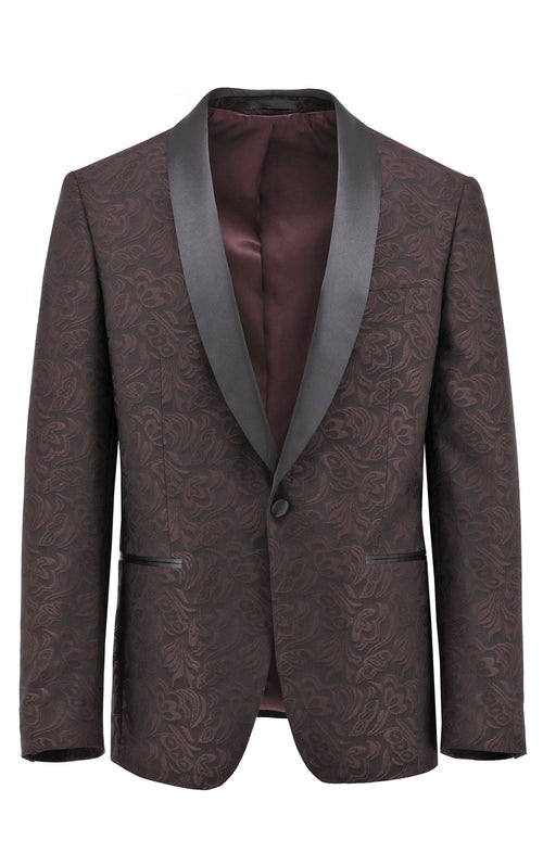 Christian Brookes Shawl Shape Red Paisley Suit Jacket