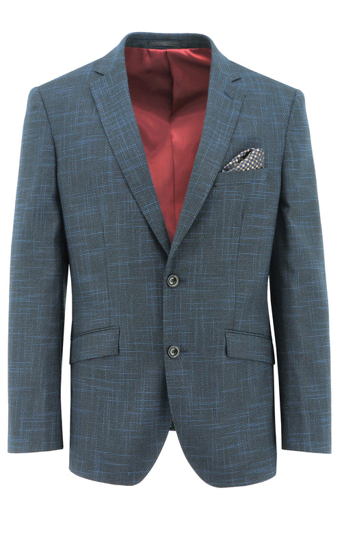 Christian Brookes Royale Blue Textured Sports Jacket