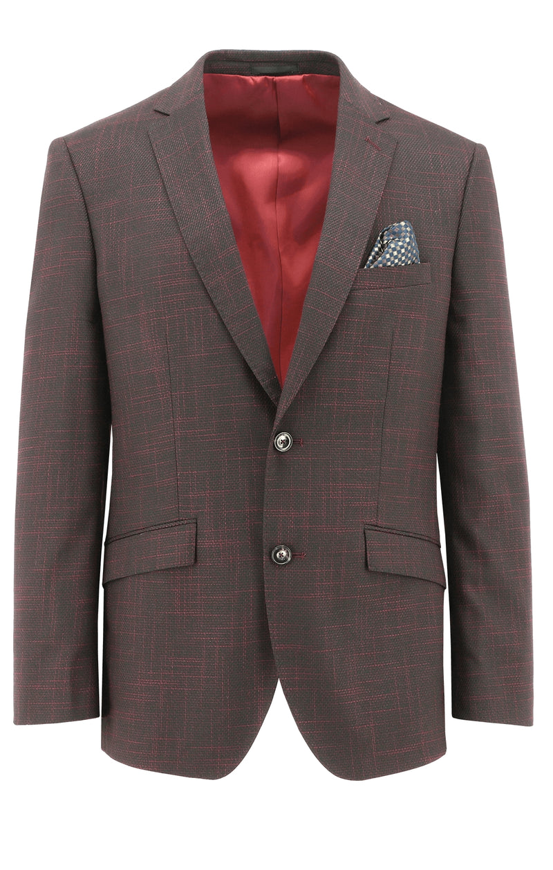 Christian Brookes Royale Red Textured Sports Jacket