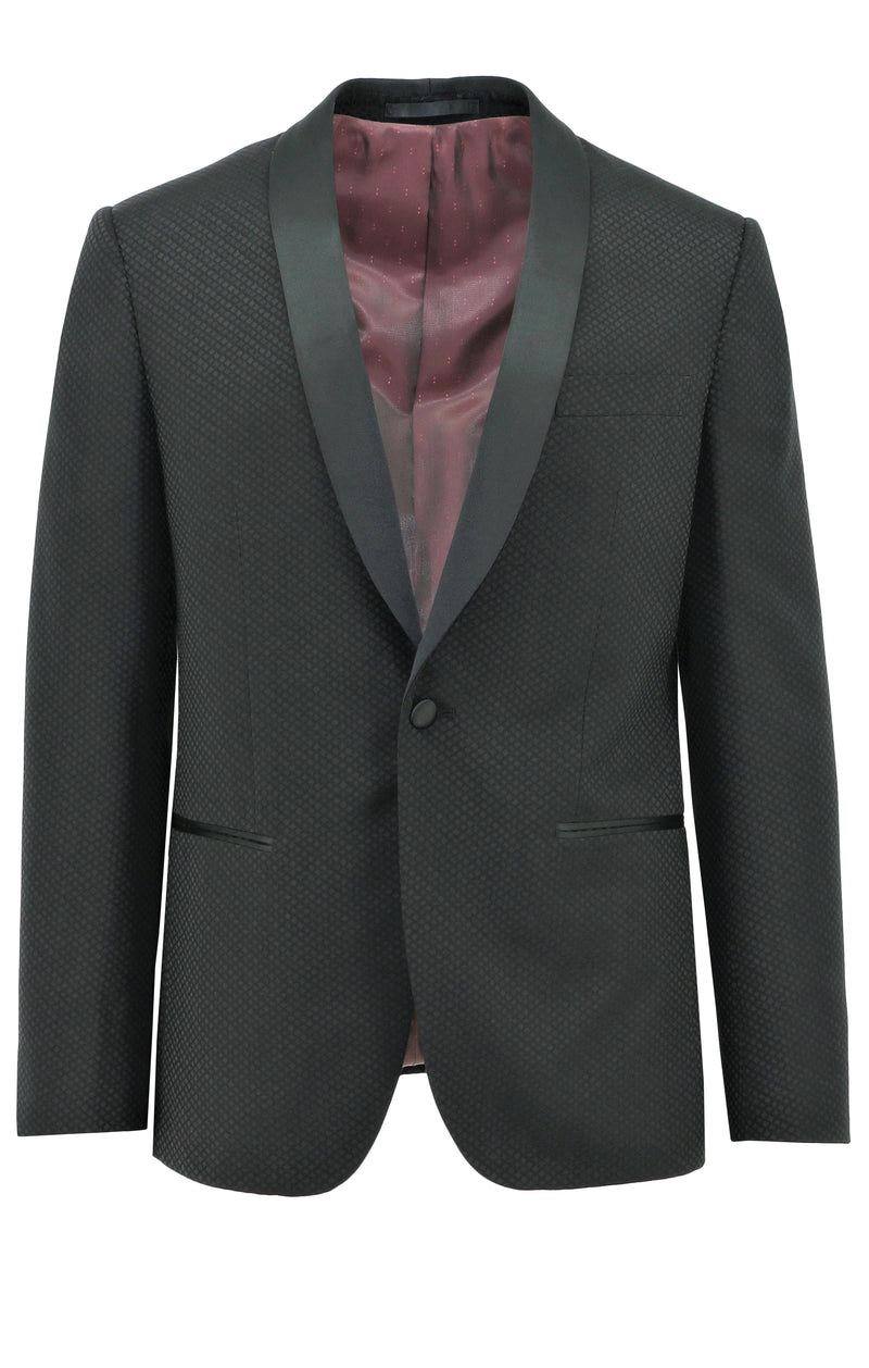 Christian Brookes Tux Black Diamond Cut Suit Jacket